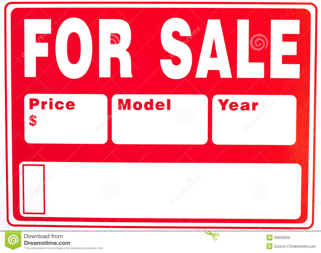 photo regarding Printable for Sale Signs for Cars referred to as Free of charge Printable Sale Symptoms Templates